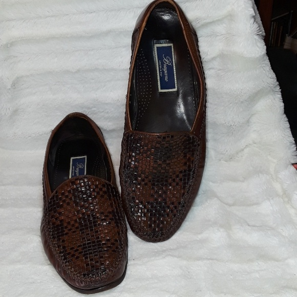 7179d1720a5 Vintage Bragano by Cole Haan woven leather loafers